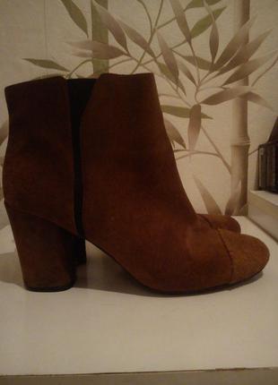 Замшевые ботинки nine west