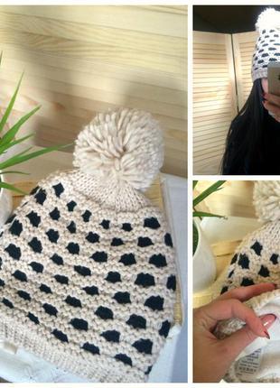 Теплая шапка f&f