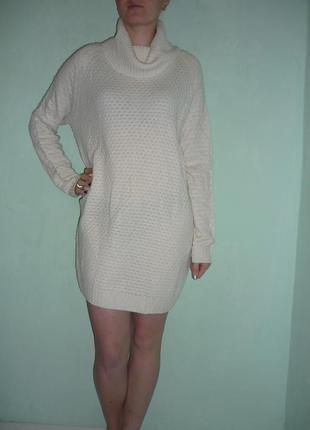 -50%  на 2-ю вещь!!!  вязаное платье / туника р.l1