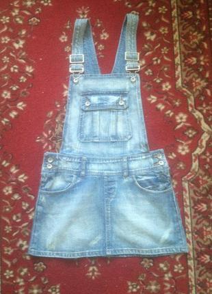 Спідничка -сарафан джинсова,котон100%,розмір s, можливий торг.
