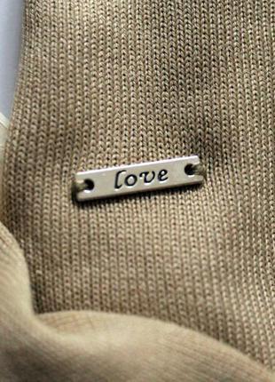Трендовый гольф кофточка свитер джемпер бежевого цвета marks & spencer, xl, xxl4