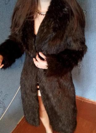 Скидка !!!шикааарная брендовая шуба,шубка river island класса люкс, коричневая, пальто