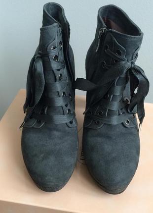 Ботильоны италия на шнуровке