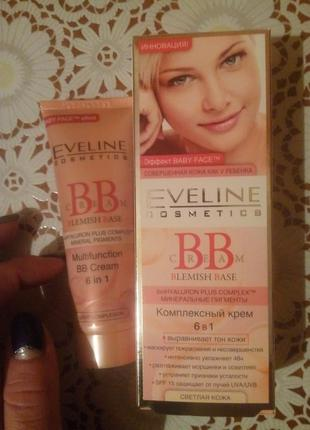 "Комплексный bb-крем ""светлая кожа"" eveline cosmetics blemish base multifunction bb cream 6 in 1"