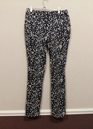 Стильные брюки штаны черные с белым f&f