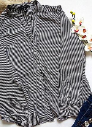 Вискозная полосатая рубашка,блуза, блузка в полосочку atmosphere, 100% вискоза