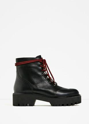 Кожанные  ботинки zara2