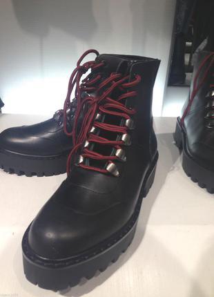 Кожанные  ботинки zara4