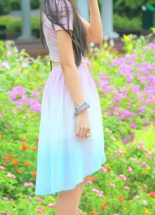 Очаровательная юбка градиент5