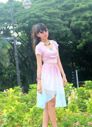 Очаровательная юбка градиент4