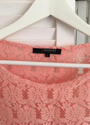Блуза reserved кружевная2