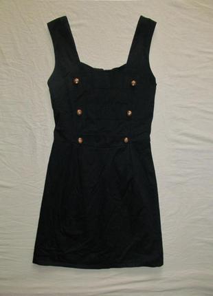 Темно-синее платье с пуговицами в морском стиле1