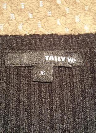 Черно-белое теплое платье от tally weijl2