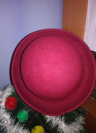 Бордовая шляпка3