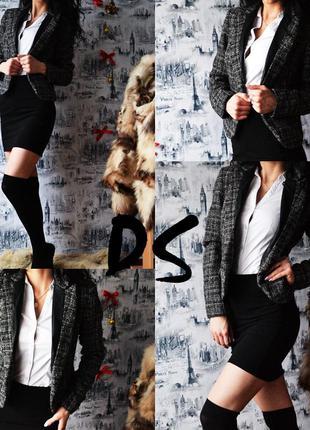 Пиджак new look с вставками под кожу2