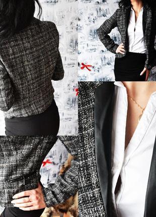 Пиджак new look с вставками под кожу3