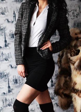 Пиджак new look с вставками под кожу5