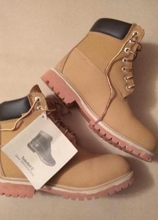 Супер ботинки(тімберленд) натуральна шкіра 38.5, нові