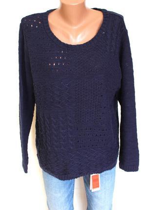 Актуальный свитшот свитер с косами оверсайз от m&co, доставка бесплатно.3