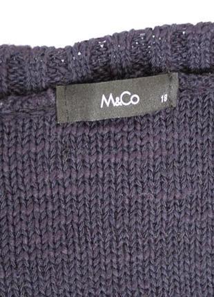 Актуальный свитшот свитер с косами оверсайз от m&co, доставка бесплатно.4