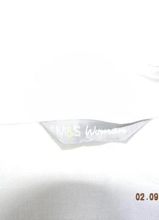 Льняная белая блуза -рубашка3