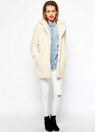 Скидка!!!брендовое крутое пальто бойфренд оверсайз atmosphere меховое,шуба,шубка