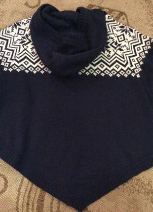 Короткий свитер пончо h&m3
