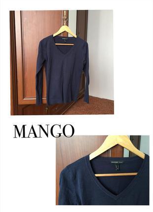 Синий джемпер mango
