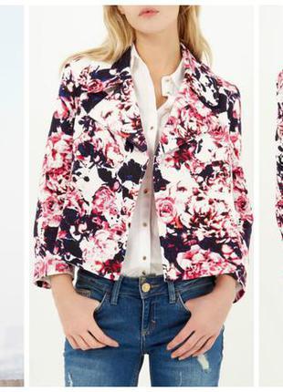 Большой выбор пиджачков и не только... шикарный жаккардовый цветочный укороченный пиджак