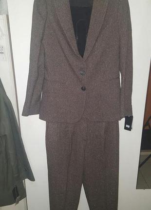 Костюм двойка mango - пиджак и капри-кюлоты - размер с и м