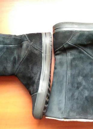 Замшевые сапоги от adidas