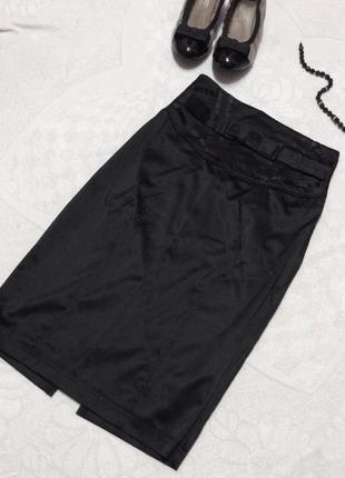 Черная юбка oodji с высокой талией
