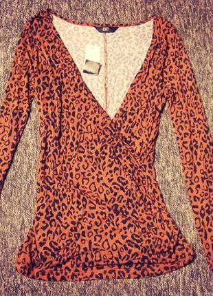 Леопардовая кофта f&f