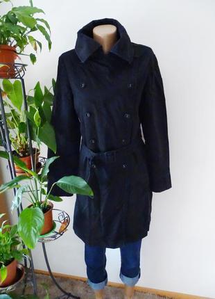 Черное демисезонное пальто next