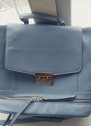 Рюкзак сумка zara нежно голубой