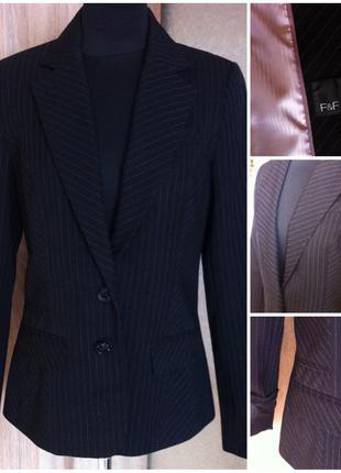Пиджак черный f&f размер 38 стильный