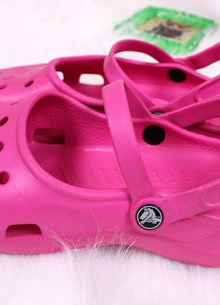 Розовые crocs