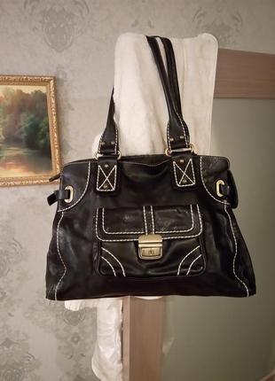 Шикарная кожаная большая сумка.