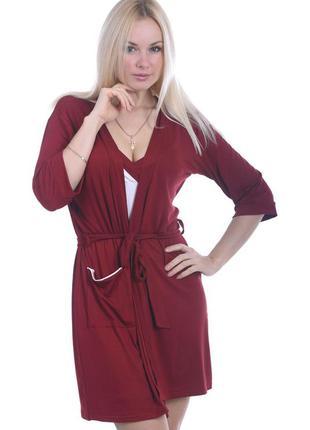 Комплект для дома, ночная рубашка+халат, км110н