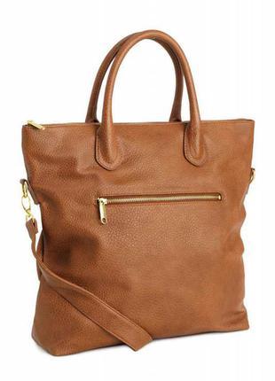 Стильная,актуальная сумка-шоппер от h&m,коричневая,новая.