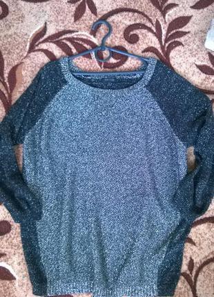 Свободный свитер river island 10 с метализ.нитью