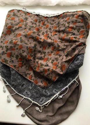 Очень крутой тройной шарф треугольник