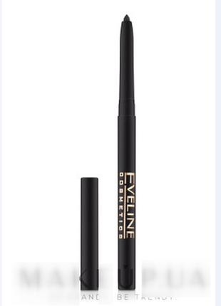 Автоматический карандаш для глаз eveline cosmetics kajal mega max