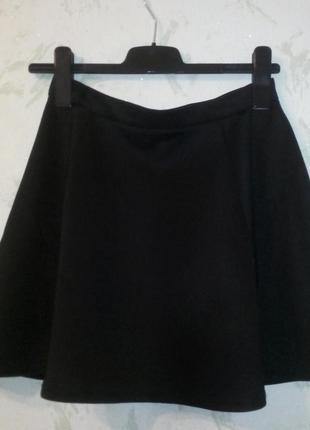 Черная юбка-солнце страдиварус stradivarius
