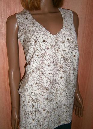 Красивейшая блуза в цветочки от next с двойной баской артикул 11