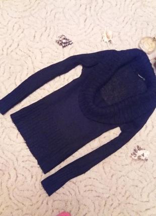 Теплый свитер с красивым хомутом (ангора)