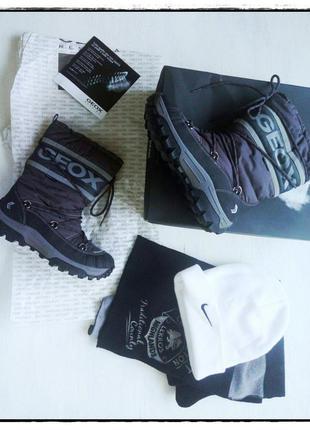 Зимняя обувь сапоги снегоходы geox respira размер 37 бесплатная отправка нп