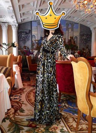Платье в пол gizia с леопардовым принтом