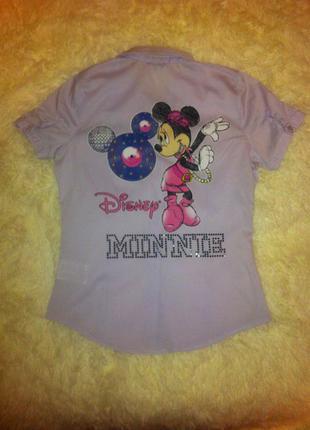 Рубашка с minnie от disney ,размер l (подойдет и на m),турция