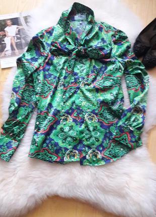 Атласная блуза hawes&curtis англия, узор пейсли, оригинал